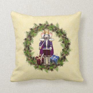 Mouse King Wreath Christmas Throw Pillow