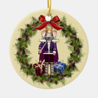 Mouse King Wreath Round Ornament