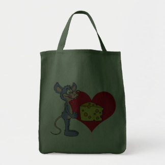 Mouse Loves Cheese Canvas Bags