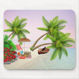 mouse mat beach