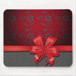 mouse mat hummingbird and node red and gray mousepad