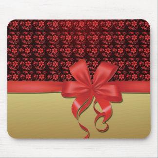 Mouse mat hummingbird and red node gold mousepads