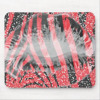 Mouse mat Kisses Black Red/