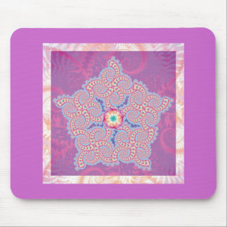 Mouse Mat - Purple Star Fractal Pattern