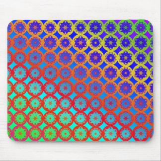 Mouse Mat - Rainbow Mandala Fractal Pattern