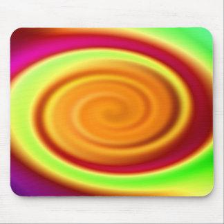 Mouse Mat - Rainbow Swirl Abstract Pattern