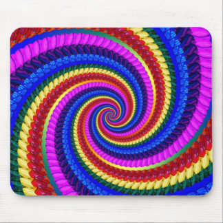 Mouse Mat - Rainbow Swirl Fractal Pattern Mouse Pad