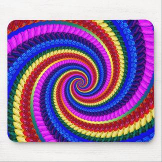 Mouse Mat - Rainbow Swirl Fractal Pattern