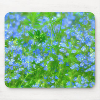 MOUSE MAT SMALL BLUE FLOWERS