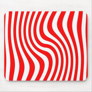 Mouse mat - Streaked - red Colour
