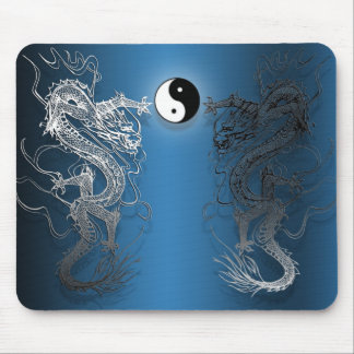 Mouse mat the ying and yang dragons