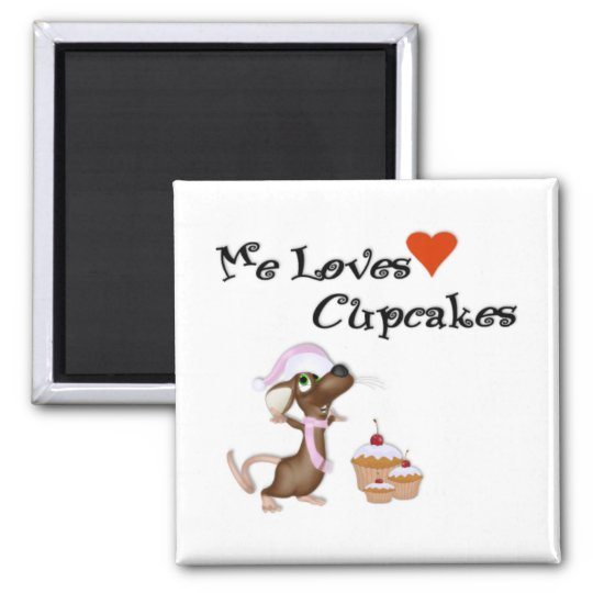 Mouse Me Loves Cupcake Magnet