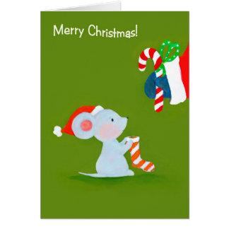Mouse meets Santa Card
