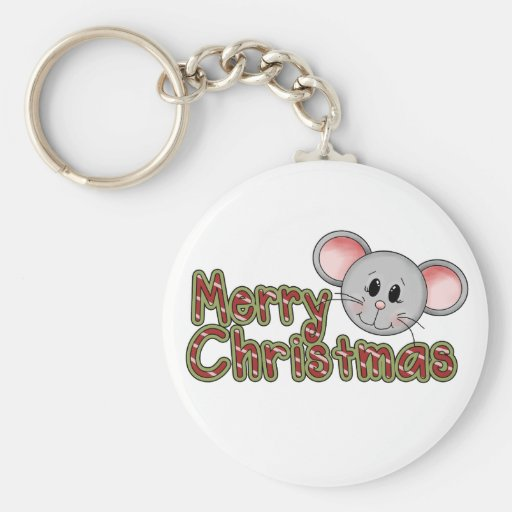 Mouse Merry Christmas Tshirts and gifts Keychain