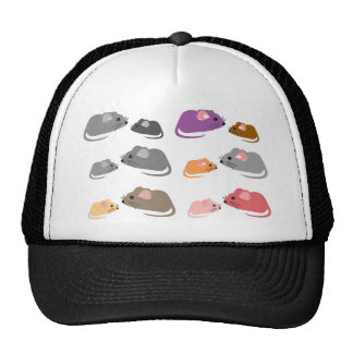 MOUSE Mice Brotherhood Family Photograph Mesh Hat