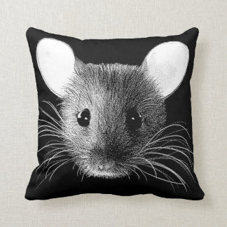 Mouse Monochrome Pop Art Throw Cushion