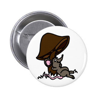 Mouse & Mushroom 6 Cm Round Badge