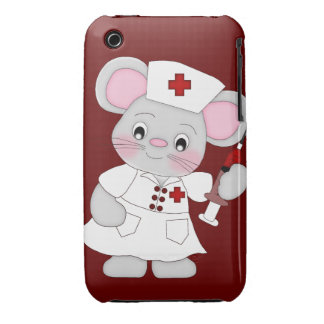 Mouse Nurse Case Cover iPhone 3 Covers