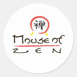 Mouse Of Zen Round Sticker