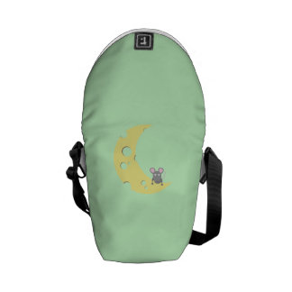 mouse on the cheese moon commuter bags