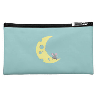 mouse on the cheese moon cosmetics bags