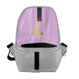 mouse on the cheese moon messenger bags