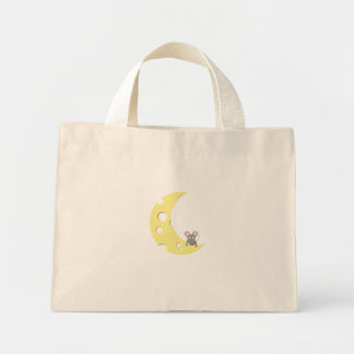 mouse on the cheese moon mini tote bag