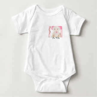 Mouse Onesy white pink brown Baby Bodysuit