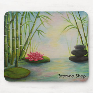 Mouse PAD, bamboo and stones, Mouse Pad