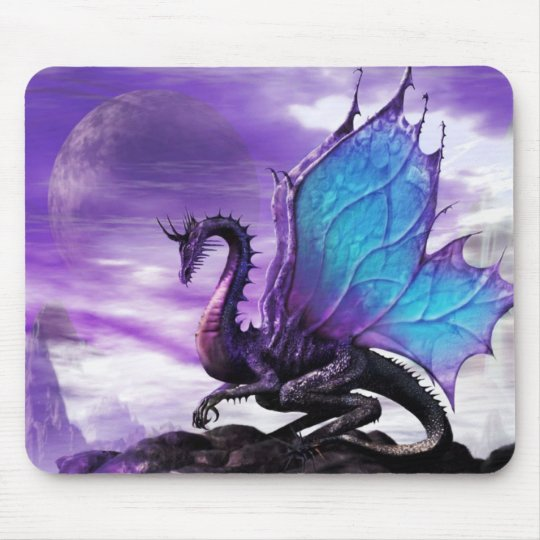 Mouse Pad * Blue Winged Dragon * Mousepad