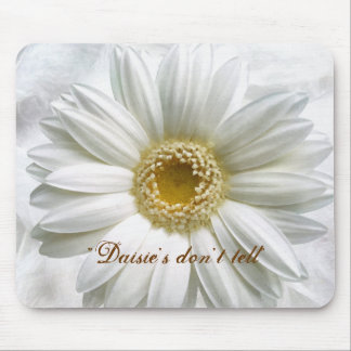 Mouse Pad - Daisy - White - Feminine - Floral