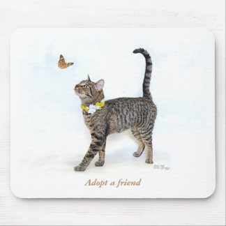 Mouse Pad featuring Tabatha, the Tabby