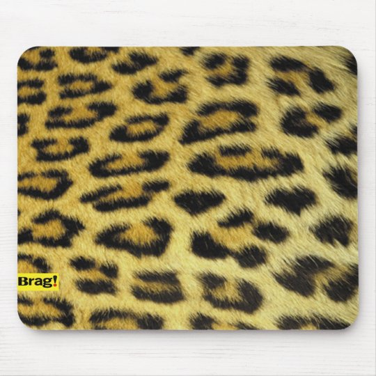 Mouse pad for computer leopard print brag