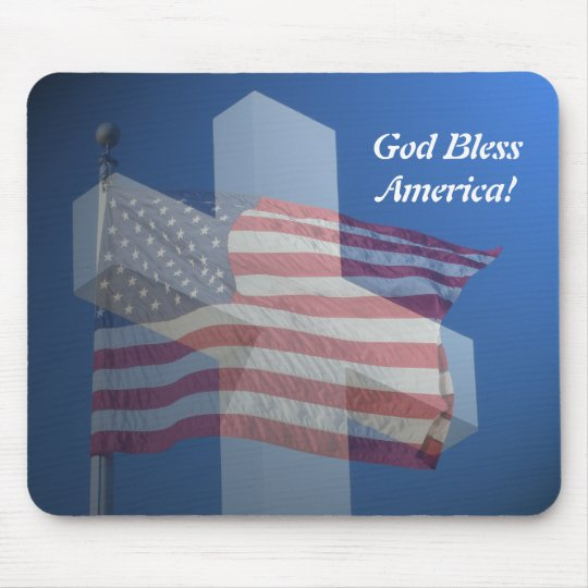 Mouse pad, God bless America! Mouse Mat