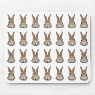 Mouse pad of 28 rabbits