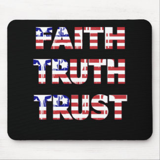 Mouse Pad Patriotic Faith Truth Trust