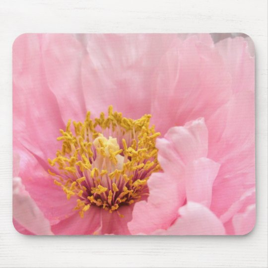 Mouse Pad: Pink Tree Peony Mouse Mat