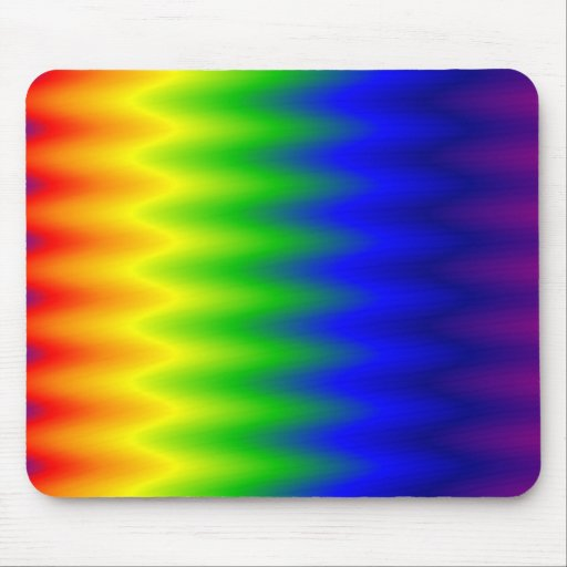 Mouse Pad - Rainbow Wave