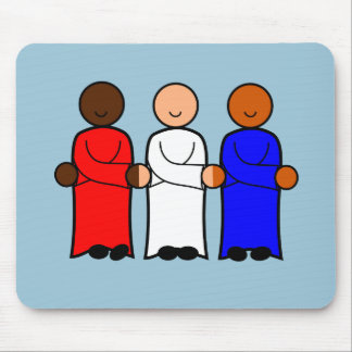 mouse pad red white blue usa unity characters