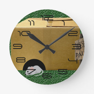 Mouse pad round clock