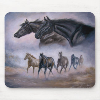 Mouse Pad Running Horses and Thoroughbred Imagery