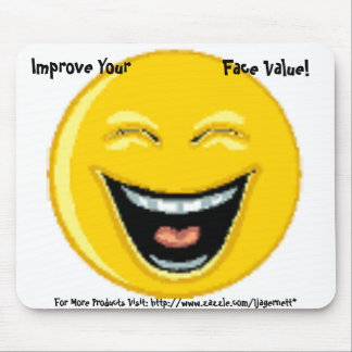Mouse Pad, Smiley Face Mouse Pad