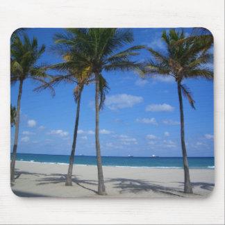 Mouse Pad Tropical - Palm Trees - Beach - Ocean