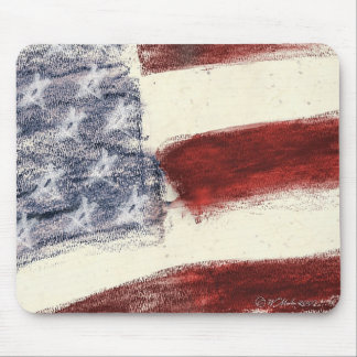 Mouse pad - U.S. Flag sketch