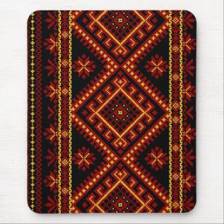Mouse Pad Ukrainian Cross Stitch Embroidery
