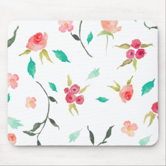 Mouse Pad Watercolor Wreath