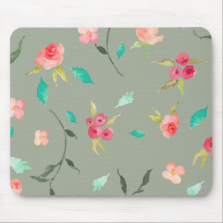 Mouse Pad Watercolor Wreath, Grey