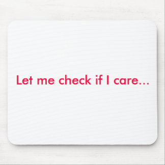 Mouse pad with attitude. - Customized