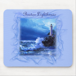 Mouse-pad with Boston Lighthouse Mouse Mat