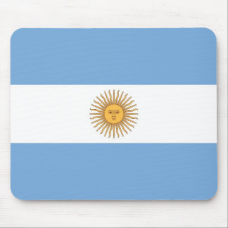 Mouse pad with Flag of Argentina